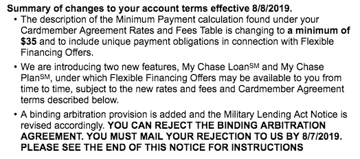 Should I Reject JP Morgan Chase's Binding Arbitration Agreement for