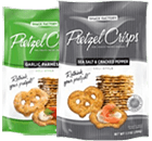 Sea Salt & Cracked Pepper and Garlic Parmesan Pretzel Crisps