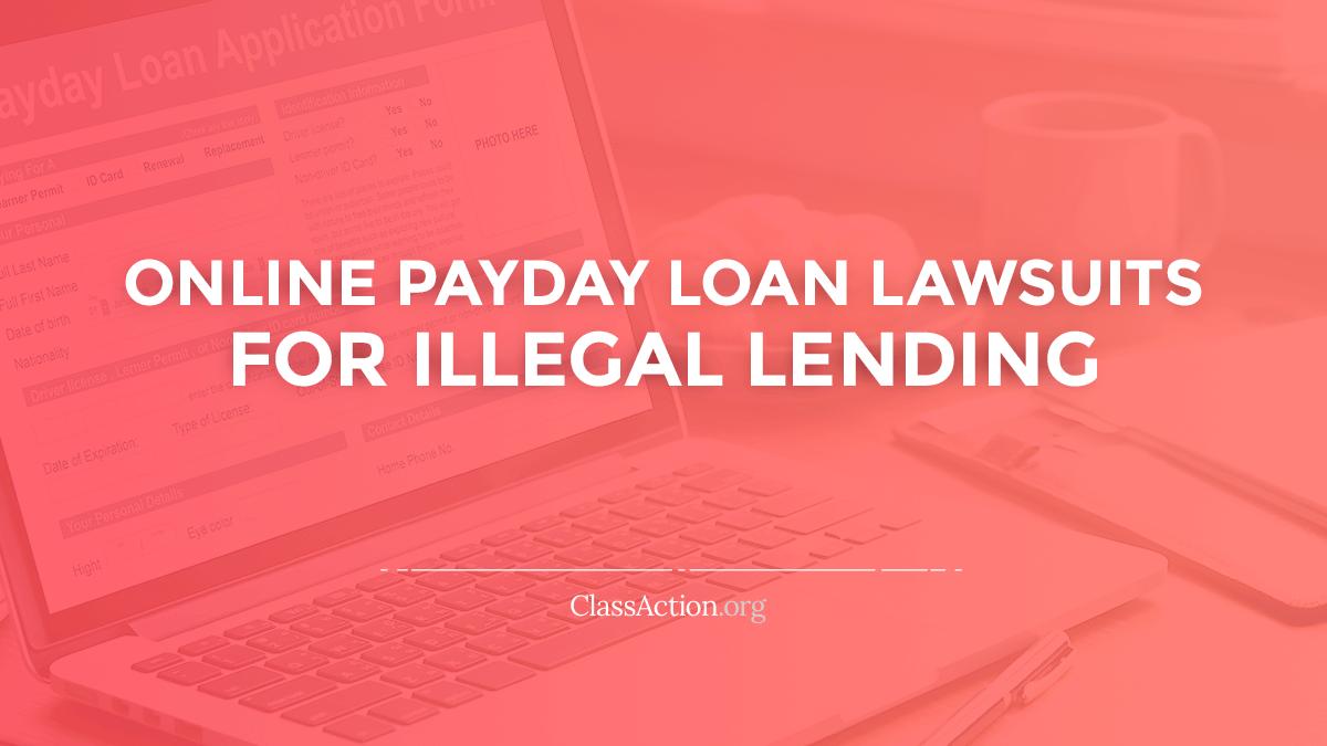 og online payday loan lawsuits