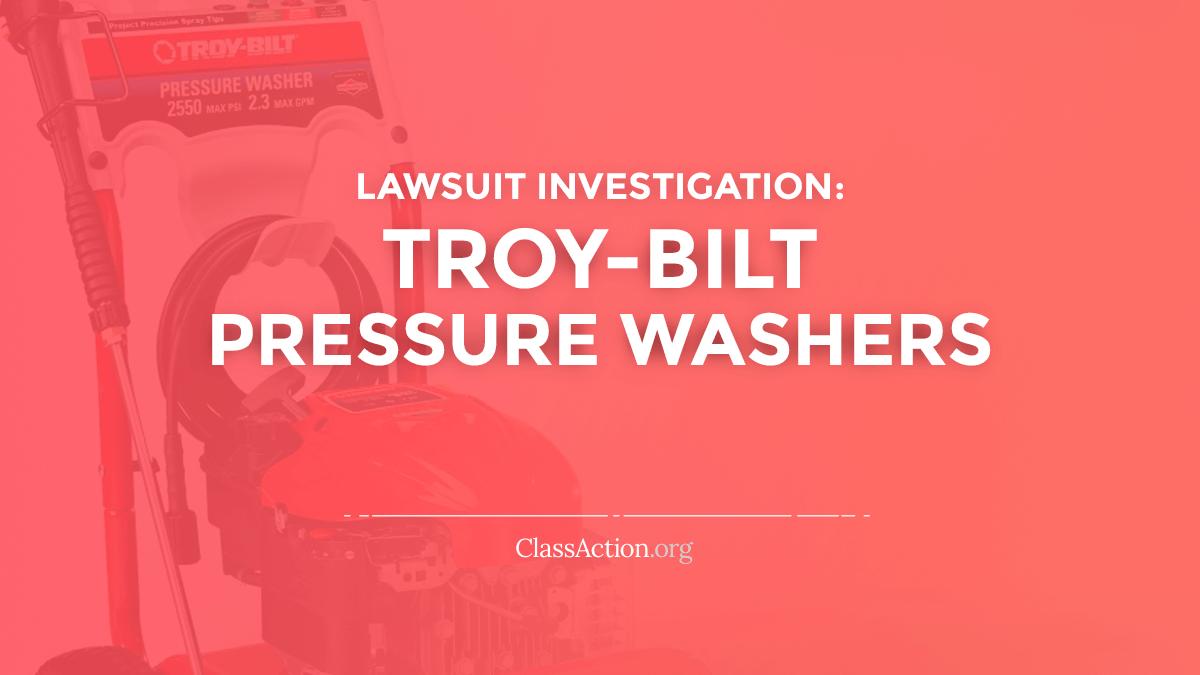 Pressure Washer Lawsuits | Low/No Pressure, Won't Start