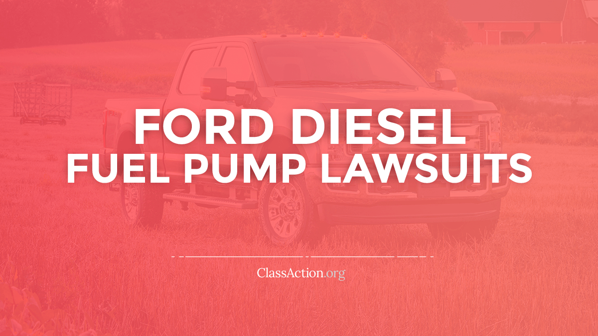 Ford Diesel Fuel Pump Lawsuits | F250, 350, 450 Problems