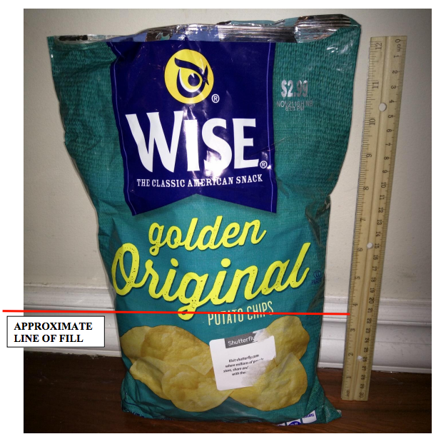 Wise Slack-Fill Potato Chip Bag